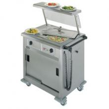Lincat GBM2 Mobile Hot Cupboard with Bain Marie and Sneeze Guard